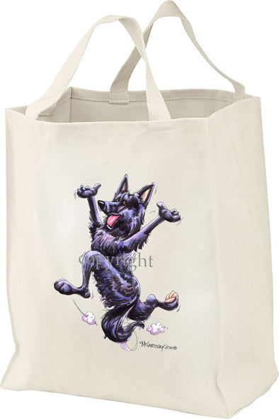 Belgian Sheepdog - Happy Dog - Tote Bag