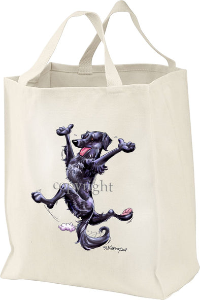 Flat Coated Retriever - Happy Dog - Tote Bag