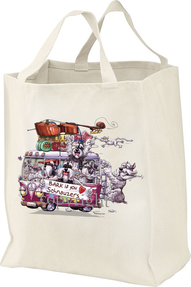 Schnauzer - Bark If You Love Dogs - Tote Bag
