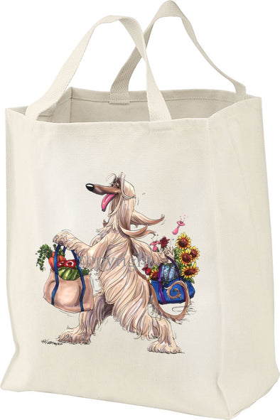 Afghan Hound - Walking With Produce - Mike's Faves - Tote Bag