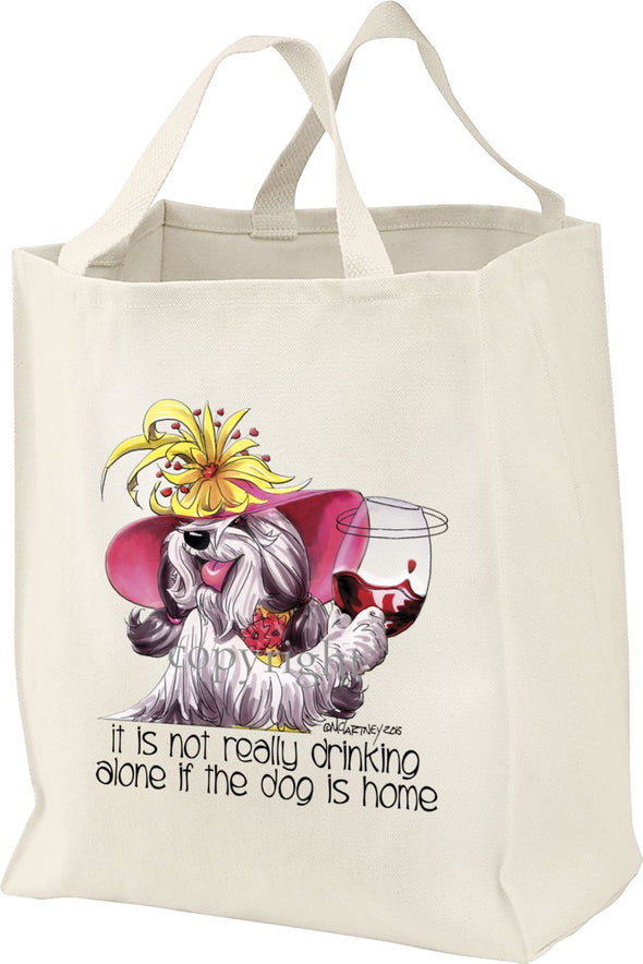 Bearded Collie - It's Not Drinking Alone - Tote Bag