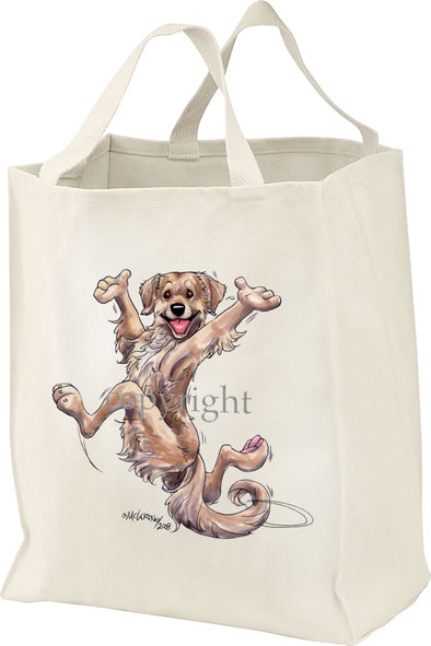 Golden Retriever - Happy Dog - Tote Bag