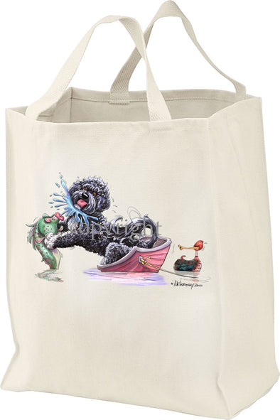 Portuguese Water Dog - Fish Squirting - Mike's Faves - Tote Bag