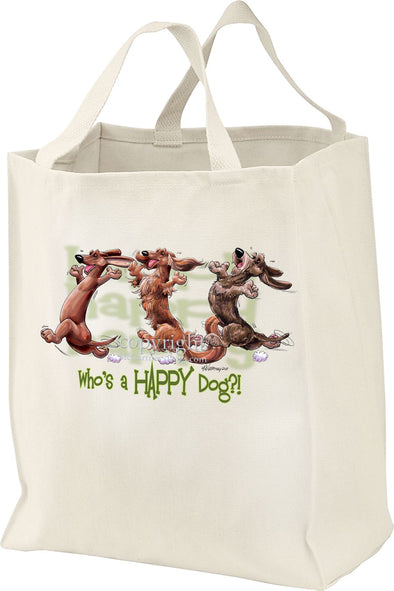 Dachshund - Group - Who's A Happy Dog - Tote Bag