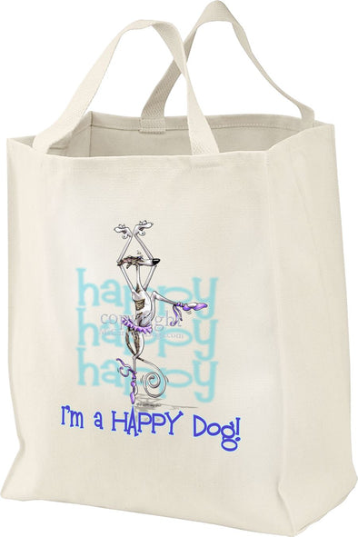 Whippet - 2 - Who's A Happy Dog - Tote Bag