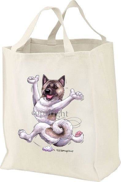 Akita - Happy Dog - Tote Bag