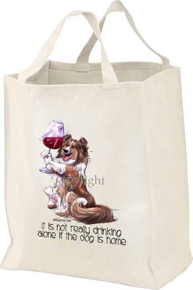 Shetland Sheepdog - It's Not Drinking Alone - Tote Bag