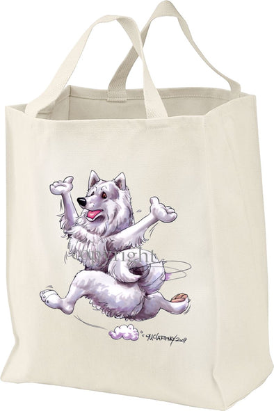Samoyed - Happy Dog - Tote Bag