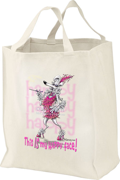Poodle - 2 - Who's A Happy Dog - Tote Bag