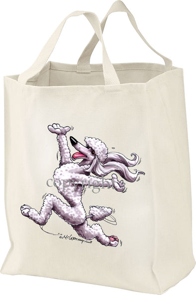Poodle  White - Happy Dog - Tote Bag