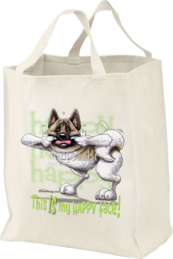 Akita - Who's A Happy Dog - Tote Bag