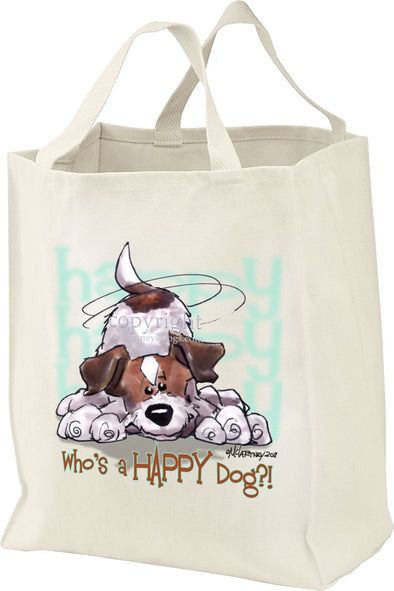 Jack Russell Terrier - Who's A Happy Dog - Tote Bag