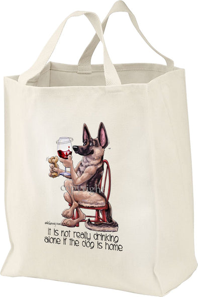 German Shepherd - It's Not Drinking Alone - Tote Bag