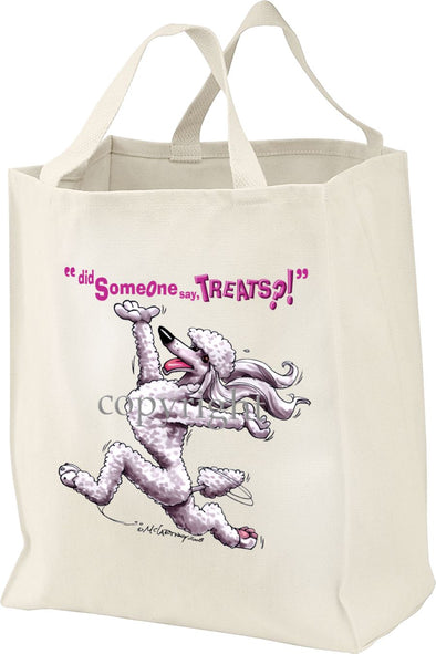 Poodle  White - Treats - Tote Bag