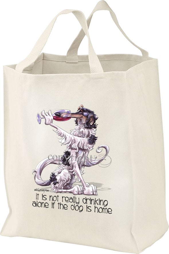 Borzoi - It's Not Drinking Alone - Tote Bag