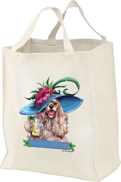 Cocker Spaniel - Derby Hat - Mike's Faves - Tote Bag