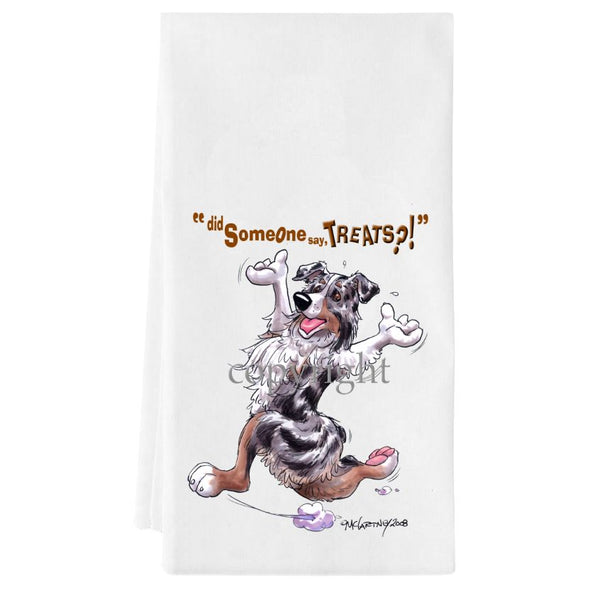 Australian Shepherd  Blue Merle - Treats - Towel