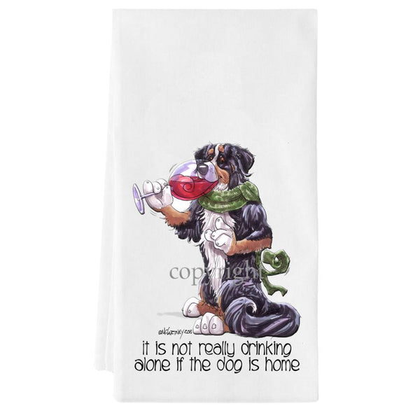 Bernese Mountain Dog - It's Not Drinking Alone - Towel