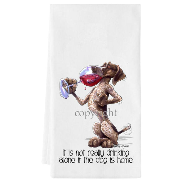 German Shorthaired Pointer - It's Not Drinking Alone - Towel
