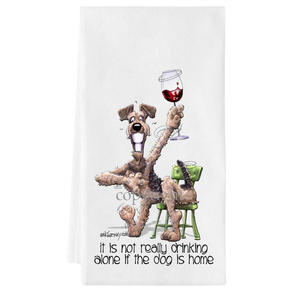 Airedale Terrier - It's Not Drinking Alone - Towel