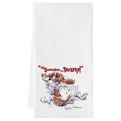 Cavalier King Charles  Blenheim - Treats - Towel