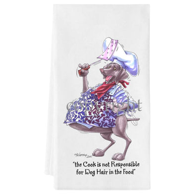 Weimaraner - Fat Chefs - Towel