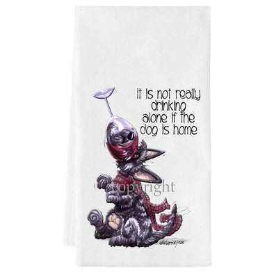 Scottish Terrier - It's Not Drinking Alone - Towel