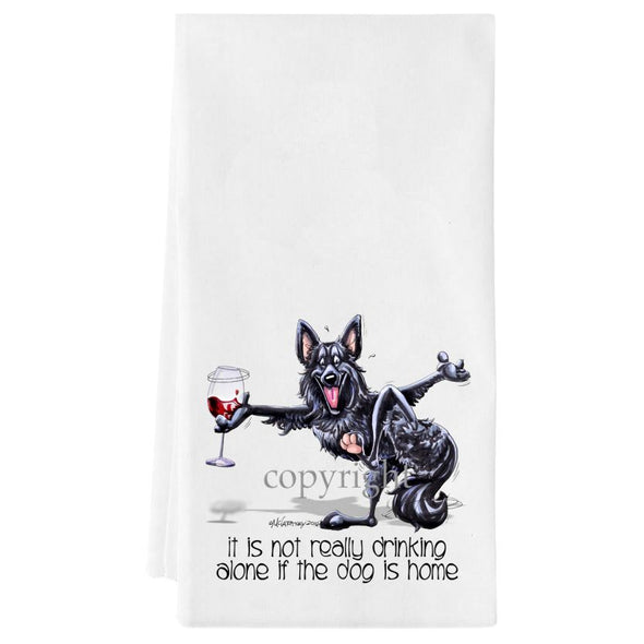 Belgian Sheepdog - It's Not Drinking Alone - Towel
