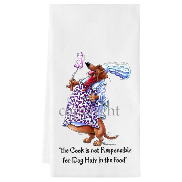 Dachshund - Fat Chefs - Towel