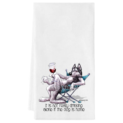 Siberian Husky - It's Not Drinking Alone - Towel