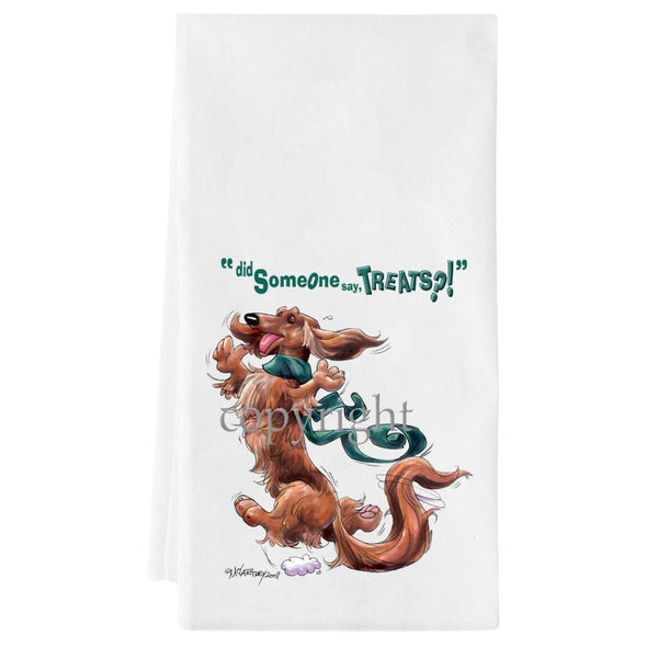 Dachshund  Longhaired - Treats - Towel