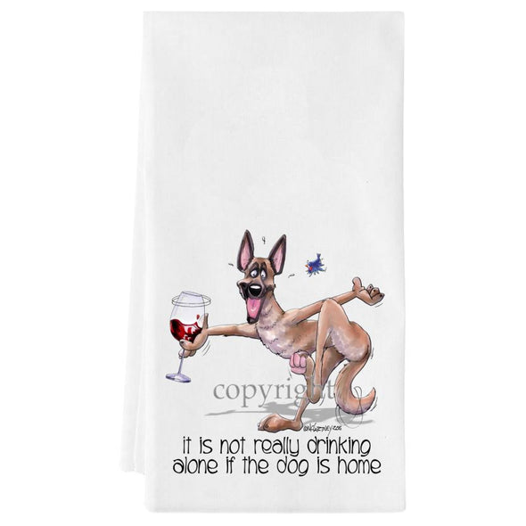 Belgian Malinois - It's Not Drinking Alone - Towel