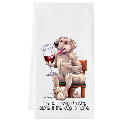 Labrador Retriever  Yellow - It's Not Drinking Alone - Towel