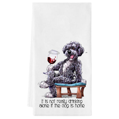 Portuguese Water Dog - It's Not Drinking Alone - Towel