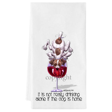 Jack Russell Terrier - It's Not Drinking Alone - Towel