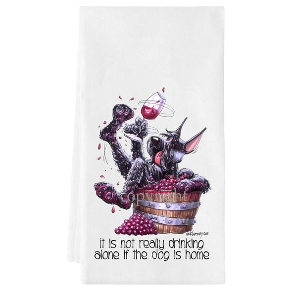Giant Schnauzer - It's Not Drinking Alone - Towel