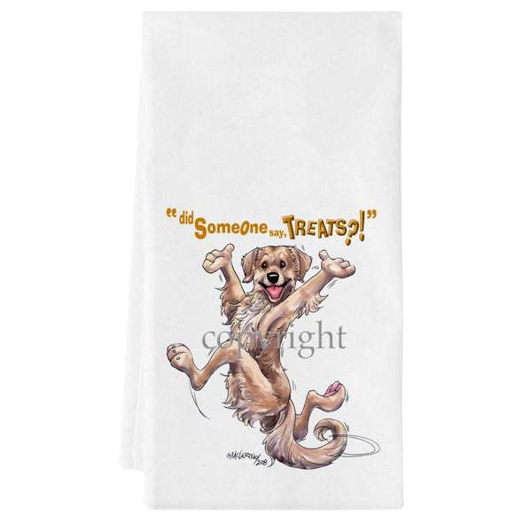 Golden Retriever - Treats - Towel