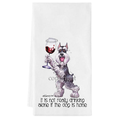 Schnauzer - It's Not Drinking Alone - Towel