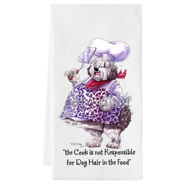 Old English Sheepdog - Fat Chefs - Towel