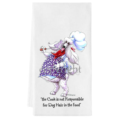 Poodle  White - Fat Chefs - Towel