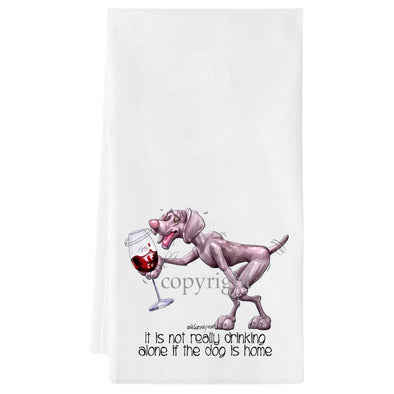 Weimaraner - It's Not Drinking Alone - Towel