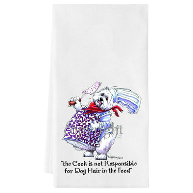 West Highland Terrier - Fat Chefs - Towel