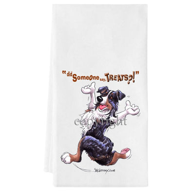 Australian Shepherd  Black Tri - Treats - Towel