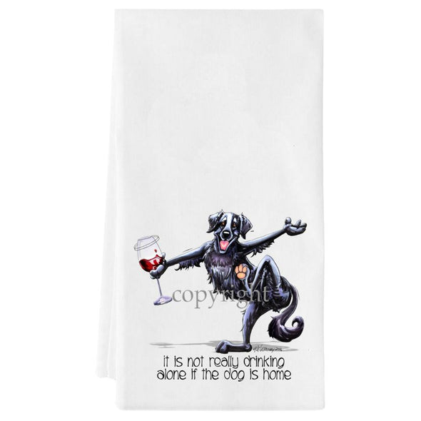 Flat Coated Retriever - It's Not Drinking Alone - Towel