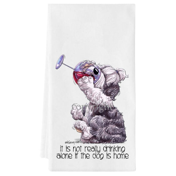Old English Sheepdog - It's Not Drinking Alone - Towel