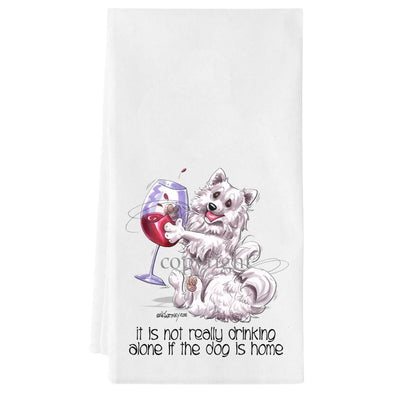 American Eskimo Dog - It's Not Drinking Alone - Towel