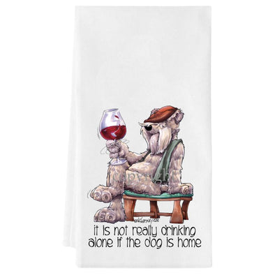 Soft Coated Wheaten - It's Not Drinking Alone - Towel