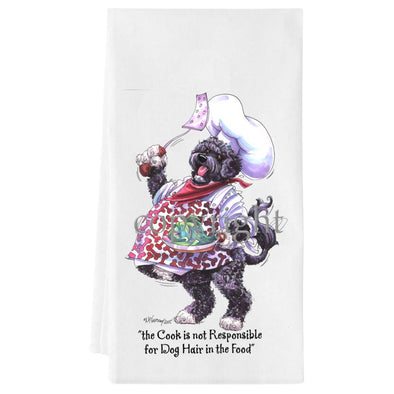 Portuguese Water Dog - Fat Chefs - Towel