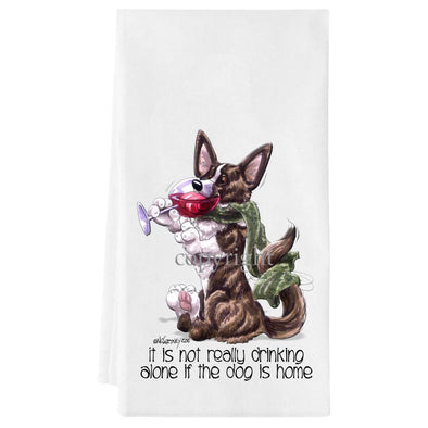 Welsh Corgi Cardigan - It's Not Drinking Alone - Towel
