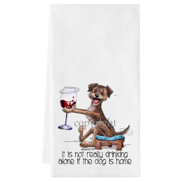Border Terrier - It's Not Drinking Alone - Towel